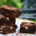Dark & white chocolate brownies