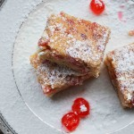 Cherry & white chocolate blondies