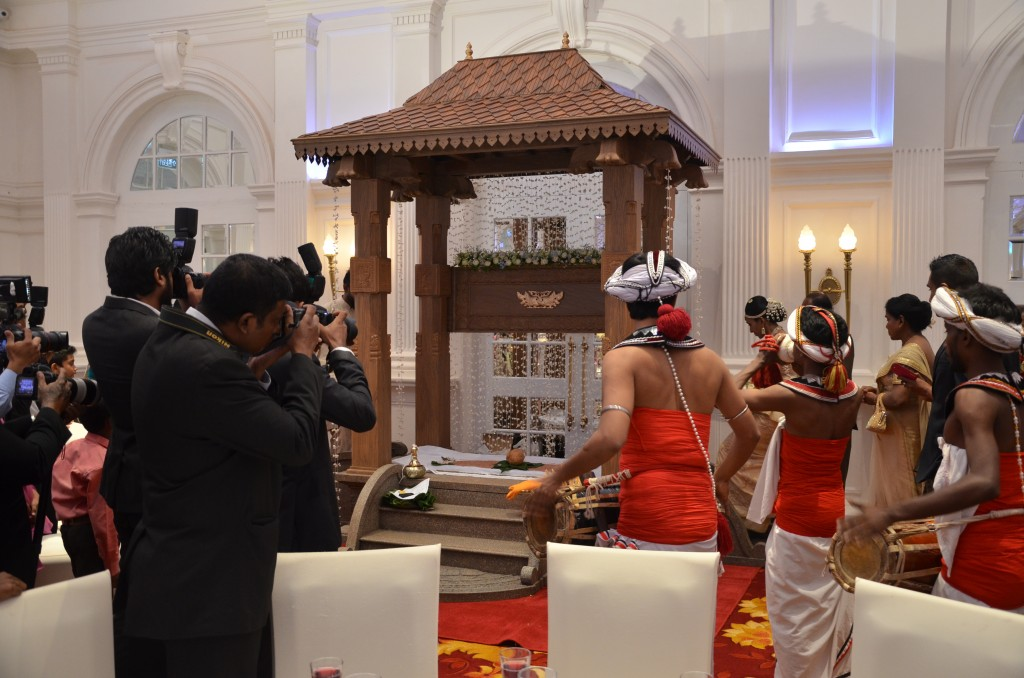 Sri Lankan Poruwa at wedding ceremony