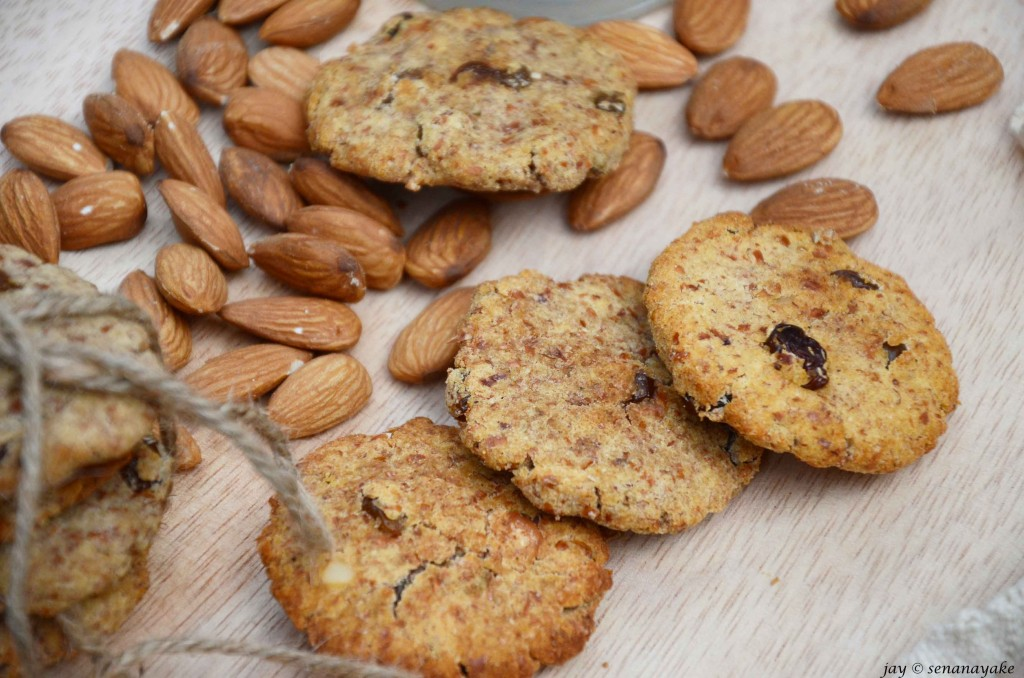 Three-almond-cookies