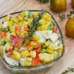 Sweet corn & egg salad