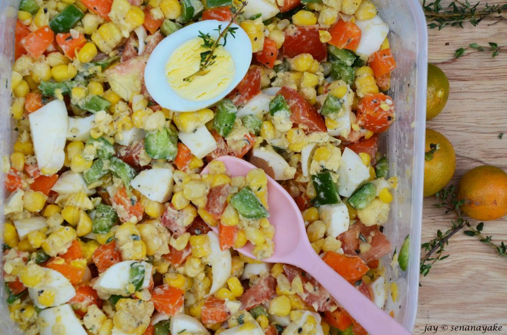 Sweetcorn-egg-salad