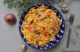 tomato chicken spaghetti