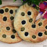 Rosemary Focaccia bread with olives
