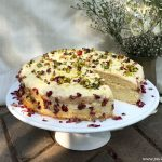 White chocolate cardamom cake
